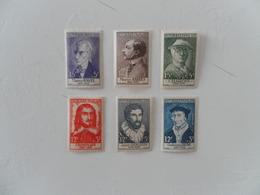 FRANCE  YT1066/1071 PERSONNAGES CELEBRES 1956** - France