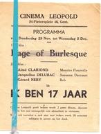 Ciné Cinema Bioscoop Pub Reclame Programma - Cinéma Leopold Gent - Ik Ben 17 Jaar - Publicité Cinématographique
