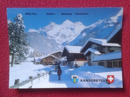 POSTAL POST CARD CARTE POSTALE SUIZA SUISSE SCHWEIZ SVIZZERA Switzerland KANDERSTEG BERNA BERNE SNOW NIEVE WITH STAMP - BE Berne
