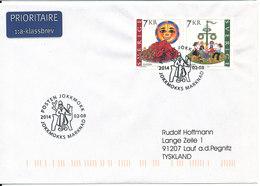 Sweden Cover With Special Postmark Jokkmokks Marknad 8-2-2014 Sent To Germany - Suède