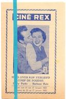 Ciné Cinema Bioscoop Pub Reclame Programma - Ciné Rex  Gent - Coup De Foudre - 1952 - Publicité Cinématographique
