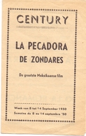 Ciné Cinema Bioscoop Pub Reclame Programma - Ciné Century Gent - La Pecadora - 1950 - Publicité Cinématographique