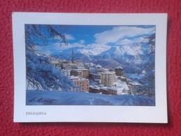 POSTAL POST CARD CARTE POSTALE SUIZA SUISSE SCHWEIZ SVIZZERA Switzerland ENGIADINA ENGADINA ENGADIN WITH STAMP CON SELLO - GR Grisons