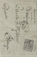 Juillet 1878- Lettre De Claude-Lafontaine  Affr. Sage 15 C N°77  Perforé  C A - 1877-1920: Periodo Semi Moderno