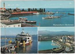Romanshorn: CHEVROLET BEL AIR SPORT SEDAN '56- FERRY / FÄHRE, SALONBOOT, ZUG / TRAIN  - (Suisse/Schweiz) - Toerisme