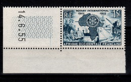 AOF - YV 53 N** Petit Coin Daté Rotary - Unused Stamps