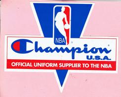 Sticker - NBA - Champion U.S.A. - Official Uniform Supplier To The NBA - Autocollants