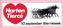 Sticker - Harten Tiercé - 10 September Sterrebeek - Autocollants