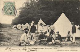 1 Cpa Fontainebleau - Le Camp D'avon - Fontainebleau