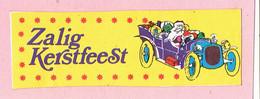 Sticker - Zalig Kerstfeest - Kerstman In Oldtimer - Autocollants