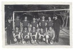 Photo équipe De Joueurs De Foot, Football , équipe Militaire ? Marins ? - Sports