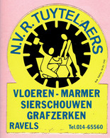 Sticker - N.V.R. TUYTELAERS - Vloeren-Marmer-Sierschouwen-Grafzerken - RAVELS - Autocollants