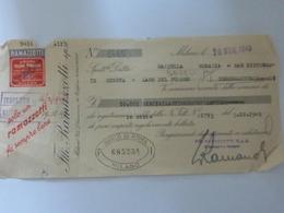 "Cambiale ""RAMAZZOTTI  - Bar Ristorante Torregaveta, Lago Del Fusaro"" 1949 - Bills Of Exchange"