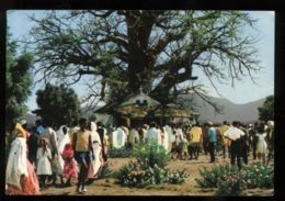 C292 - ETHIOPIA ETIOPIA ETHNICS FOLKLORE COSTUMES - KEREN - CERIMONIA / CEREMONY MADONNINA DEL BAOBAB CIRCULATED 1969 - Ethiopie