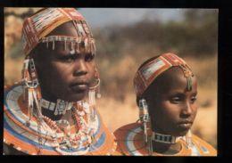 C301 KENYA - ETHNICS FOLKLORE COSTUMES WOMAN FEMME - MAASAI GIRL WOMEN DECORATIONS (PHOTO PASCARELLA)E - Kenia