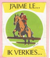 Sticker - J'AIME LE... - PAARDENSPORT - IK VERKIES... - Textielklever - Autocollants