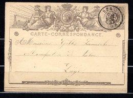 Carte Postale N° 1A - Expédiée De SPA à Destination De LIÈGE Le 7 AOÛT 1872. - Postcards [1871-09]