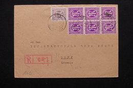 ALLEMAGNE - Enveloppe En Recommandé De Verl Pour La Suisse En 1946 - L 20677 - Zone Anglo-Américaine