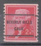USA Precancel Vorausentwertung Preo, Bureau California, Beverly Hills 1055-61 - Etats-Unis