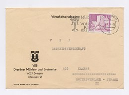 MWST DRESDEN, Museum Für Volkskunst 1974, Auf FU VEB Dresdner Mühlen- Und Brotwerke - Marcofilie - EMA (Print Machine)