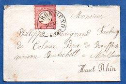 Enveloppe De Saargemund Pour Mulhouse  -  31/12/1872  -  Cachet Fer à Cheval - Allemagne
