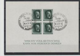 DSP133d / Block 8, Gestempelt Nat. Ausstellung Berlin 18.4.1937   O - Deutschland