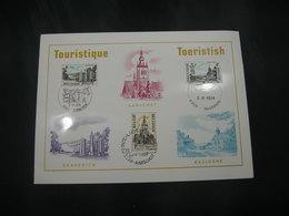 "BELG.1974 1734 1735 & 1736 FDC Filacard  ""TOURISME"" - 1971-80"