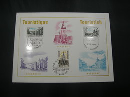 "BELG.1974 1734 1735 & 1736 FDC Filacard  ""TOURISME"" - Cartes Souvenir"
