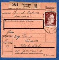 Colis Postal  - Départ Salzburgen  (château Salins ) --  25-3/1943 - Allemagne