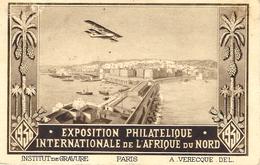 10-5-30 -C P A D'Alger De L'EXPO PHIL. INTERN.   RECC.  1er Voyage ALGER-CASABLANCA  Direct - Algérie (1924-1962)