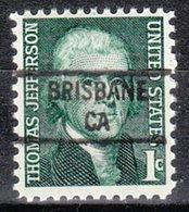 USA Precancel Vorausentwertung Preo, Locals California, Brisbane 841 - Etats-Unis