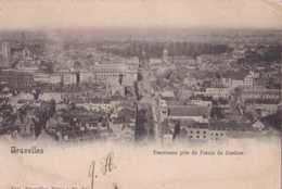 Bruxelles - Panorama Pris Du Palais De Justice - Circulé - Dos Non Séparé - TBE - Monuments, édifices