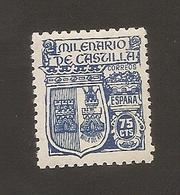 España 1944 NEW Yvert 736 Milenario De Castilla - 1931-50 Nuevos & Fijasellos