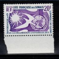 Cote Des Somalis - YV 291 N** Droits De L'homme Cote 2,50 Euros - French Somali Coast (1894-1967)