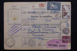 FRANCE - Bulletin D 'expédition De Strasbourg Pour Villeurbanne En 1932 - L 20681 - Paketmarken
