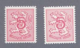 1974 Nr 1728** + 1728P6** ZONDER SCHARNIER.HERALDIEKE LEEUW. - Belgien