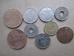 Lot Pieces Anciennes   Differents Pays - Munten & Bankbiljetten