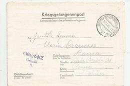 FRANCHIGIA  PRIGIONIERI DI GUERRA OFLAG  64/Z 21/!!/!945 - 4. 1944-45 Repubblica Sociale