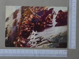 PAINTING - LE PASSAGE DES ALPES PAR SOUVOROU -  V. SOURIKOV -   2 SCANS  - (Nº27132) - Peintures & Tableaux