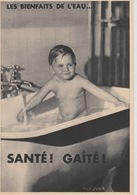 """19 / 1 / 199  - """" LES. BIENFAITS  DE. L'EAU  - SANTÉ  !  GAITÉ  ! - Santé"""