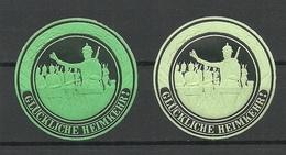 DEUTSCHLAND 1914/18 Siegelmarken Seal Stamps * WWI Erster Weltkrieg - Cinderellas