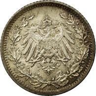 Monnaie, GERMANY - EMPIRE, 1/2 Mark, 1916, Berlin, SUP+, Argent, KM:17 - [ 2] 1871-1918: Deutsches Kaiserreich