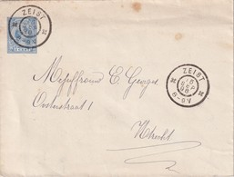 PAYS-BAS 1896  ENTIER POSTAL/GANZSACHE/POSTAL STATIONERY  LETTRE DE ZEIST DIM. 14.5 CM X  11.2 CM - Postal Stationery