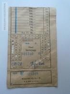 ZA153.14  Hungary MÁVAUT  Bus Ticket Autobus - 1975  Volán Tröszt Monthly  Ticket - Titres De Transport