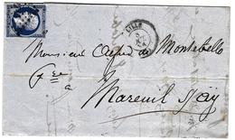 Lettre Lille 1856 Alfred Lannes Comte De Montebello Champagne Mareuil-sur-Ay Marne Charles Méry De Montigny - 1853-1860 Napoléon III