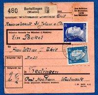 Colis Postal  - Départ Bartolfingen ( Berthelming )  --   Pour Théding  -  6/43 - Covers & Documents