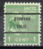 USA Precancel Vorausentwertung Preo, Bureau California, Burbank 804-71 - Etats-Unis