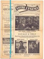 Ciné Cinema Bioscoop Pub Reclame Programma - Bulletin Votre Cinéma Bruxelles - 1955 - Publicité Cinématographique