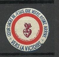 FRANCE 1914/18 Seal Stamp Siegelmarke Religion * - Erinnophilie