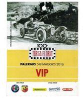 PASS BADGE RACE MOTORSPORTS CENTENARIO TARGA FLORIO ORGANISATION - Car Racing - F1